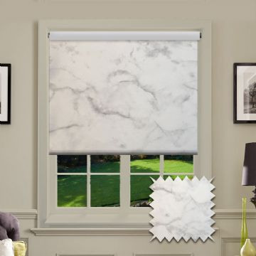 PVC Marble Patterned in Marble Silver Elite Roller Blind